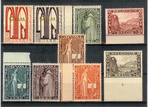 1928.Orval.Preciosa serie sin fijasellos.Yvert258/66